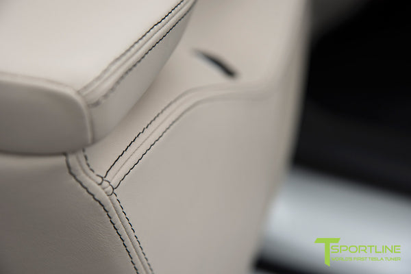 Project Panda - Model S (2016 Facelift) - Custom Bentley Linen and Ferrari Black Interior - Gloss Carbon Fiber Trim by T Sportline 8