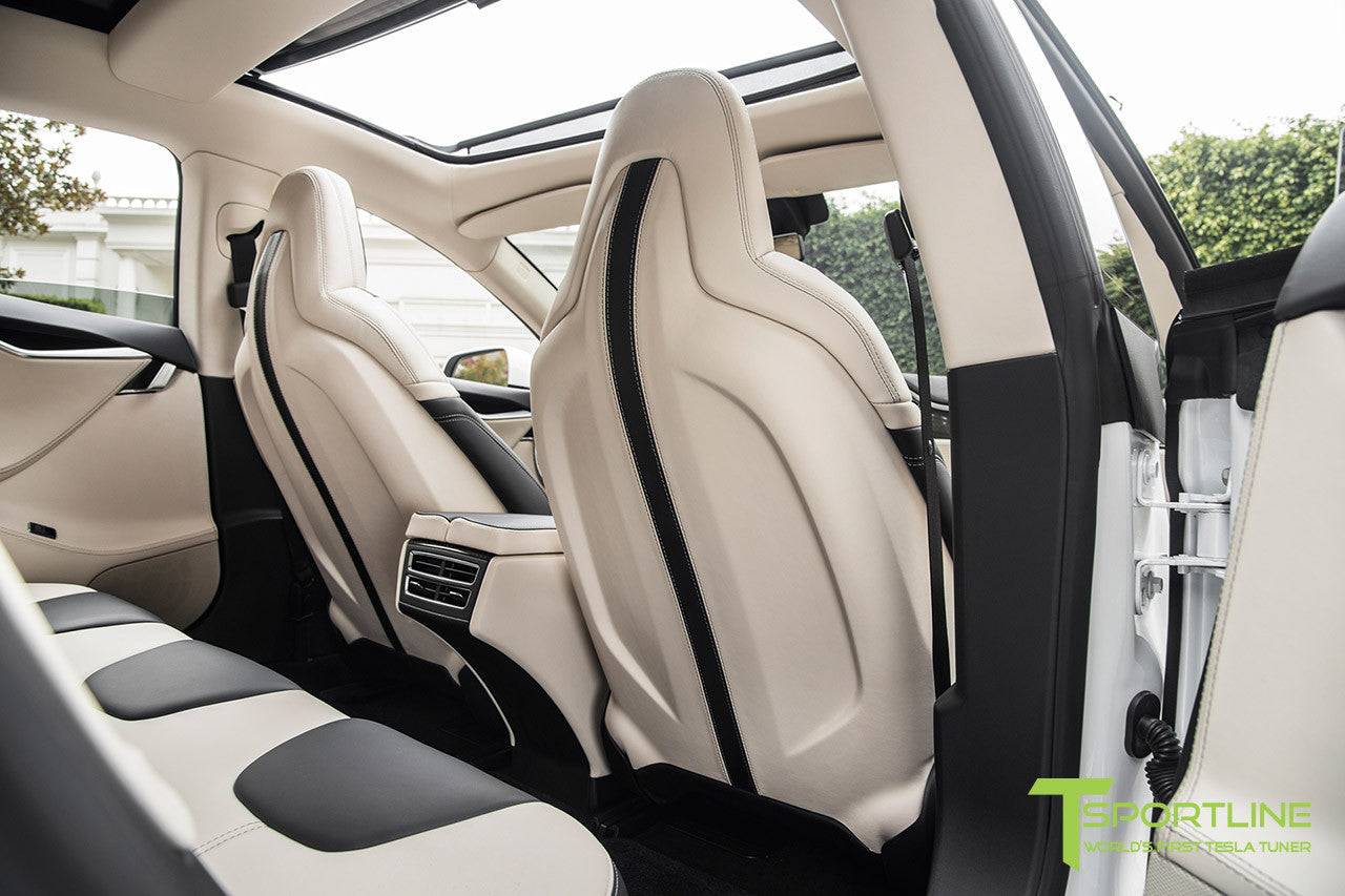 Project Panda - 2016 Tesla Model S P90D Ludicrous - Custom Bentley Linen & Ferrari Black Interior 3