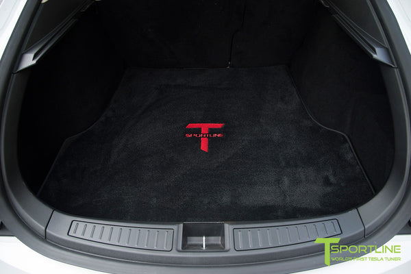 Project Panda - Model S (2016 Facelift) - Custom Bentley Linen and Ferrari Black Interior - Gloss Carbon Fiber Trim by T Sportline 1