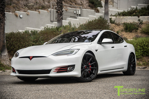 Project Panda - 2016 Tesla Model S P90D Ludicrous - Custom Bentley Linen & Ferrari Black Interior - TS112 21 Inch Forged Wheels in Matte Black 10