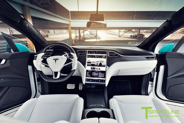 Custom Blue Tesla Model X - White Interior – TSportline.com ...