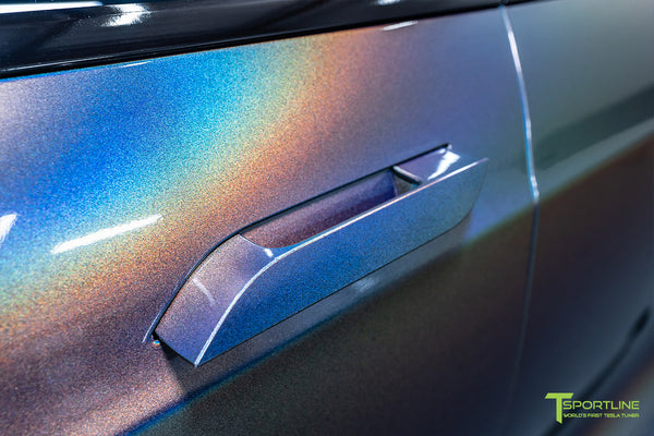 Gloss Psychedelic Flip Tesla Model S 2.0 with Chrome Delete by T Sportline 1