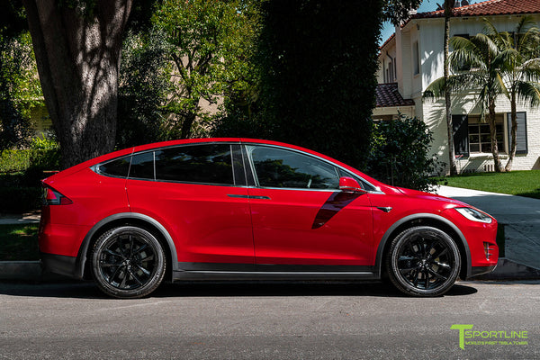 Red Multi-Coat Tesla Model X with 20