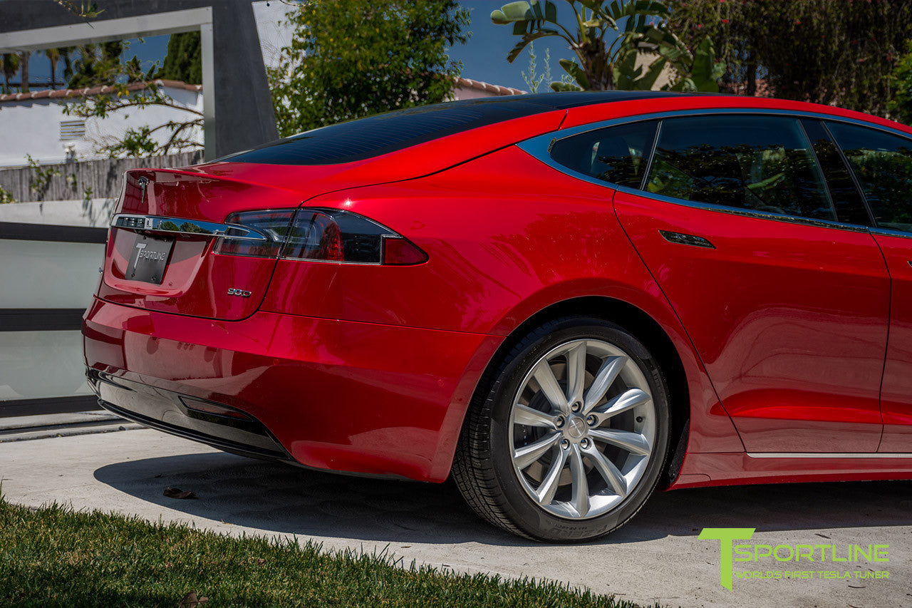 Red Multi-Coat Model S 2.0 with 19