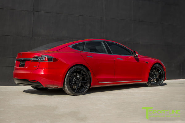 Red Multi-Coat Tesla Model S 2.0 with 21