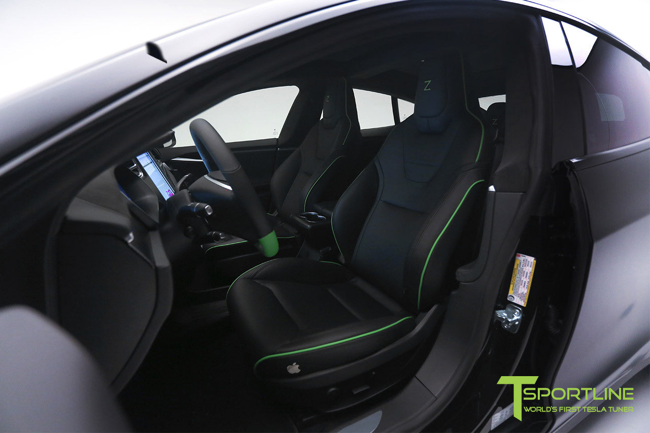 Project Z - Model S (2012-2016) - Custom Black Interior - Matte Carbon Fiber Trim by T Sportline 6