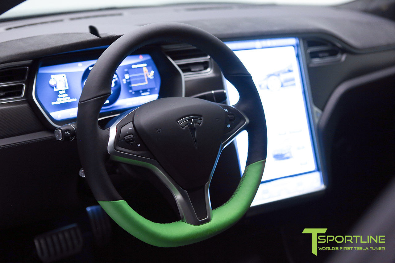 Project Z - Model S (2012-2016) - Custom Black Interior - Matte Carbon Fiber Trim by T Sportline 5
