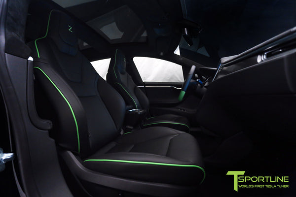 Project Z - Model S (2012-2016) - Custom Black Interior - Matte Carbon Fiber Trim by T Sportline 1