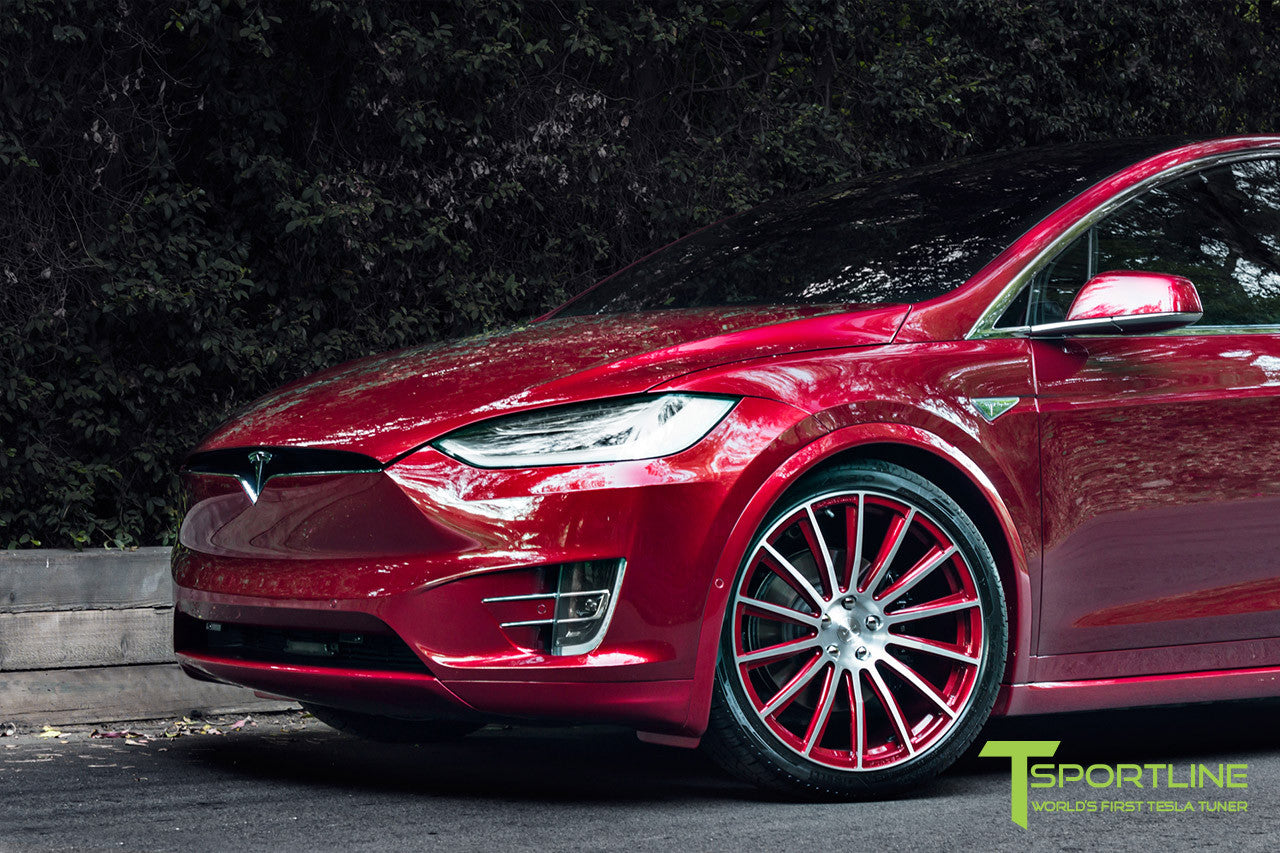 Signature Red Model X with MX114 Forged Wheels 22 Inch