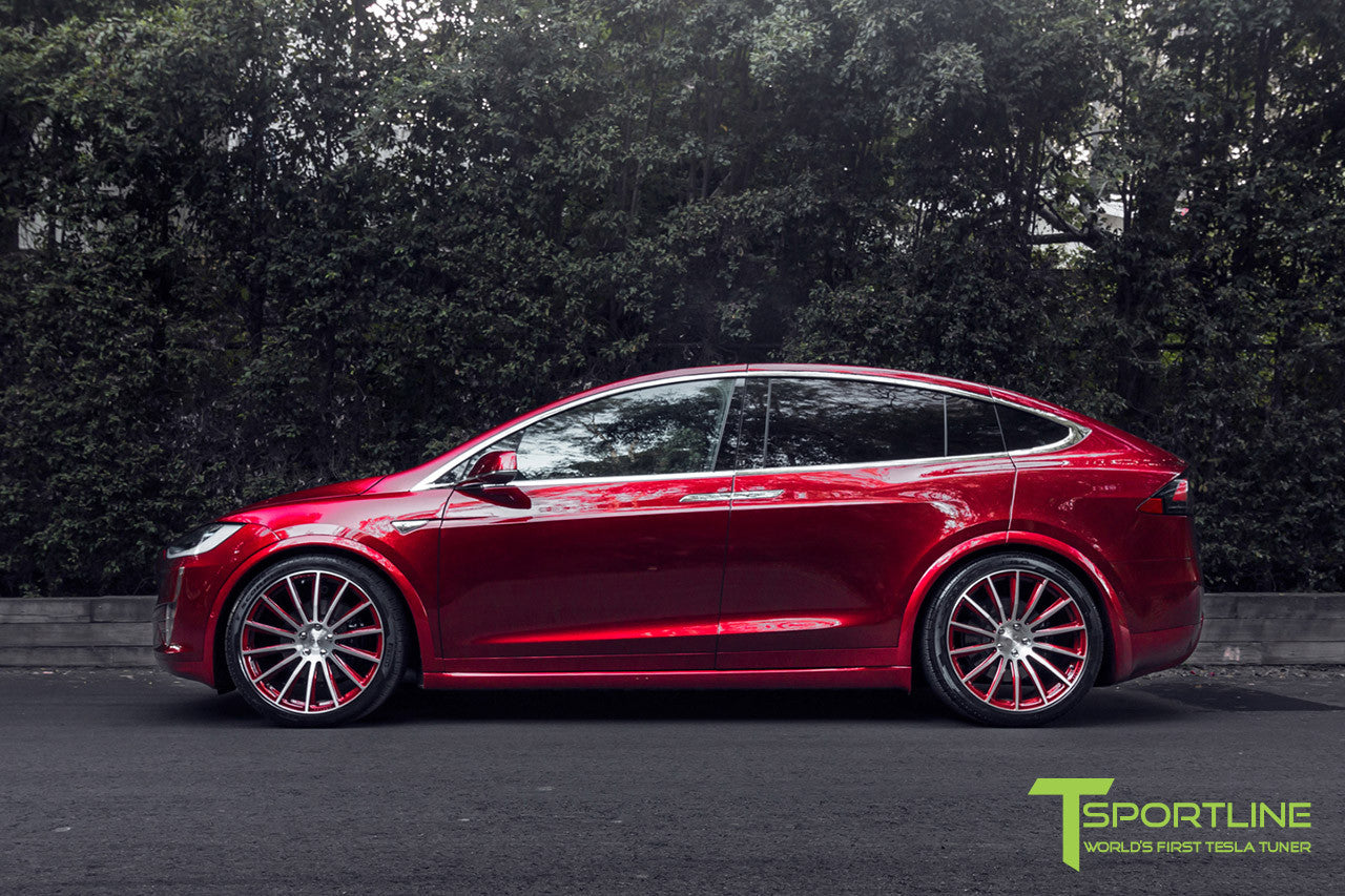 Signature Red Tesla Model X Black Interior Tsportline