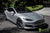 Silver Tesla Model S 2.0 with 20 Inch TST Wheels in Metallic Grey