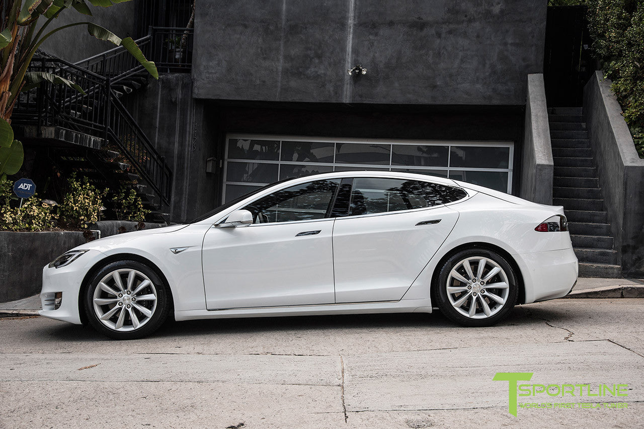 White Model S 2.0 with 19