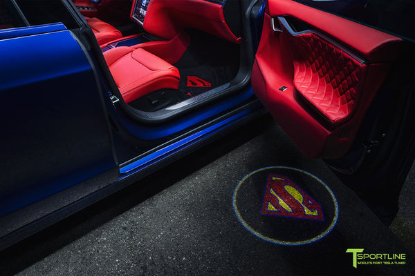 Project Superman - Custom Bentley Red Leather Interior - Blue Suede and Carbon Fiber Steering Wheel and Trim - Red Painted Seat Backs by T Sportline 3
