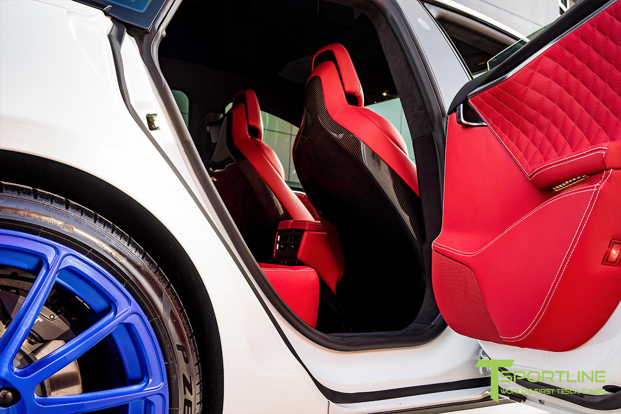 Tesla Model S v2.0 Carbon Fiber Seatback in Gloss Finish 3