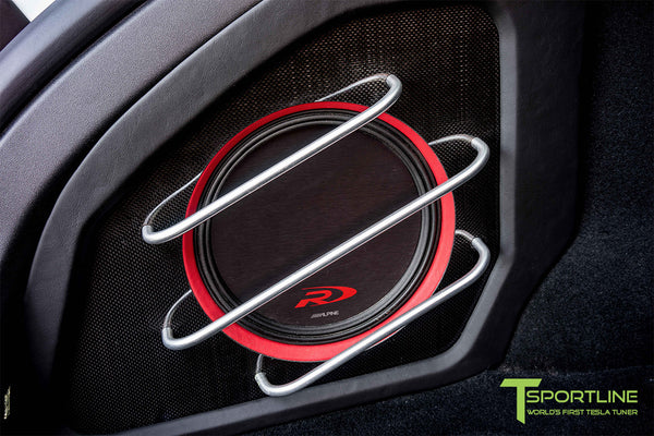 Project SuperAmerica - Tesla Model S P100D - Custom Bentley Red Interior - Carbon Fiber Dash Kit - Dashboard - Seatbacks - Steering Wheel by T Sportline 1