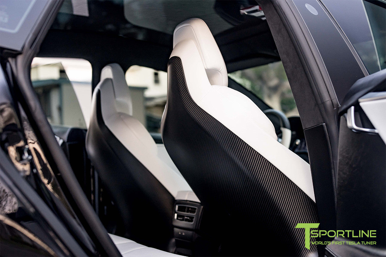 Tesla Model S v2.0 Carbon Fiber Seatback in Matte Finish 1