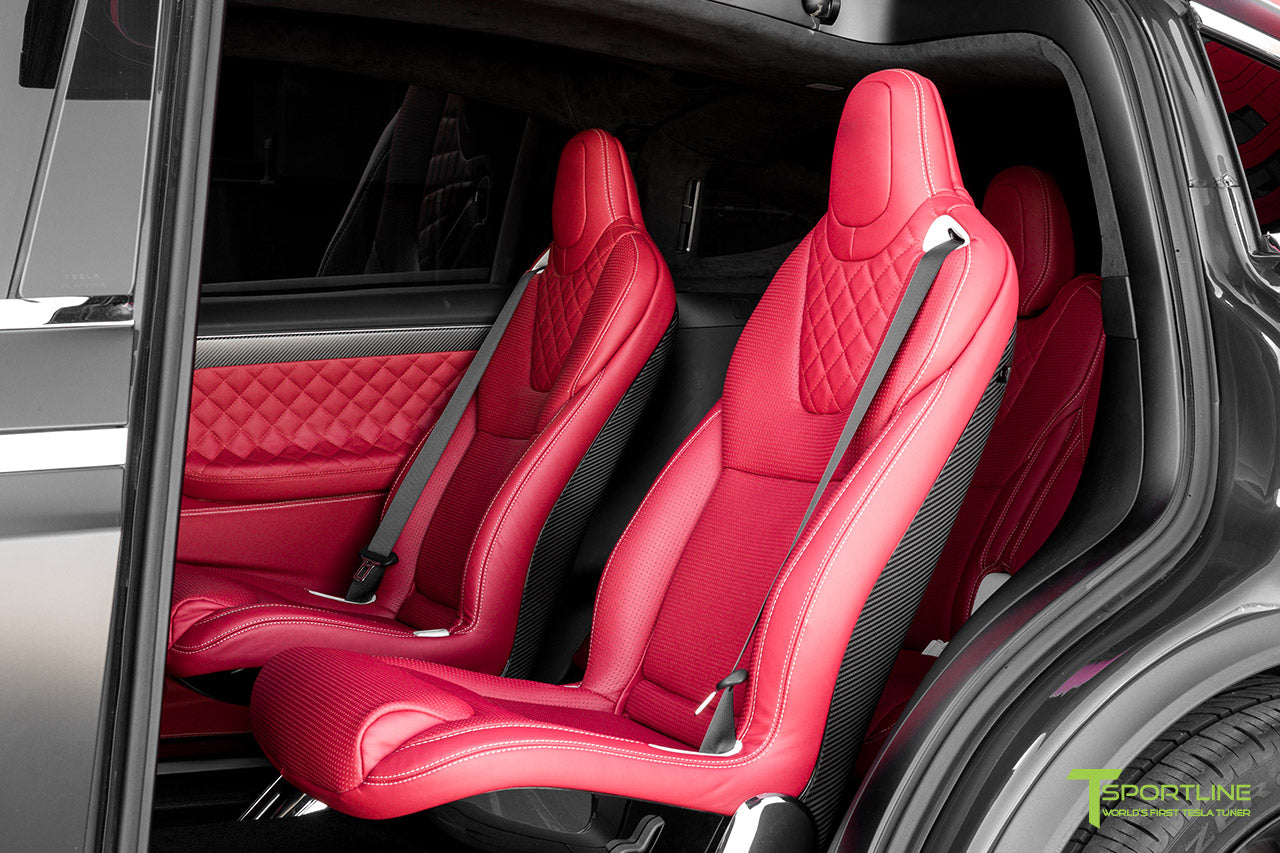Project Little Dragon - Custom Bentley Red Leather Interior, Matte Carbon Fiber Seatback, and Matte Carbon Fiber Steering Wheel by T Sportline 8
