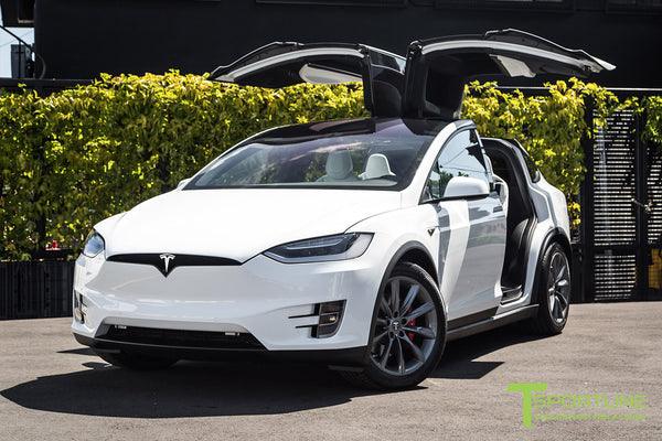 White Model X with 20