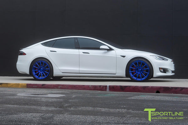 Project SuperAmerica - 2016 Tesla Model S P100D Ludicrous - Custom Bentley Red Interior 22