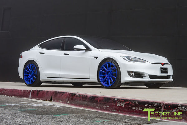 Project SuperAmerica - 2016 Tesla Model S P100D Ludicrous - Custom Bentley Red Interior 23