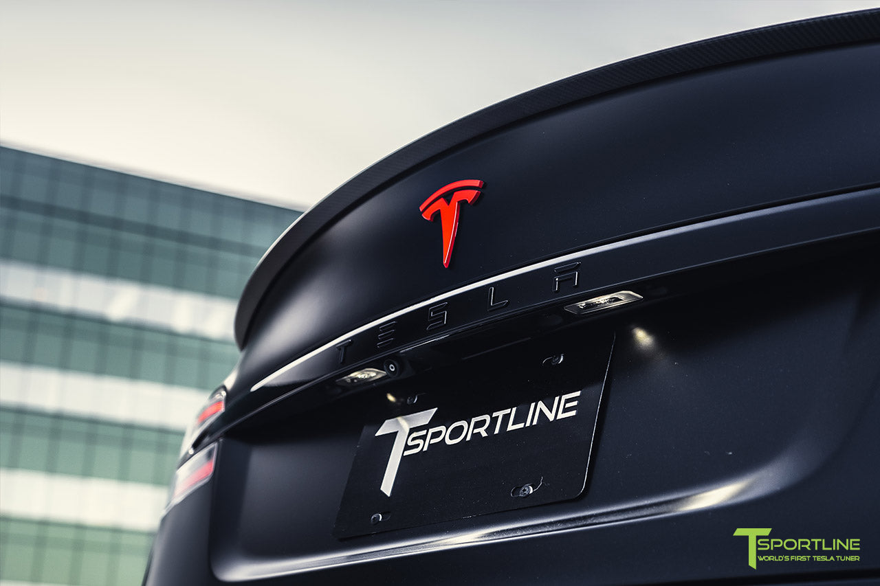 Project Bellevue - Xpel Stealth Black Tesla Model S Performance with Matte Black 21 inch TS115 Forged Tesla Aftermarket Wheels, Satin Black Chrome Delete, and Custom Reupholstered Interior in Ferrari Black Leather by T Sportline 19