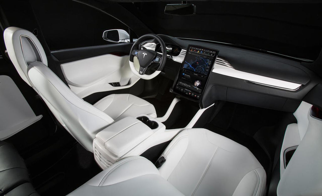 Tesla Model X White Interior