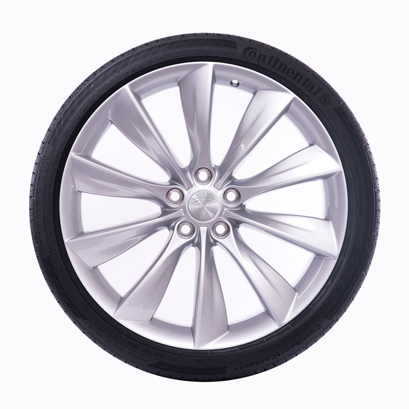 "22"" Tesla Turbine Wheel Silver"