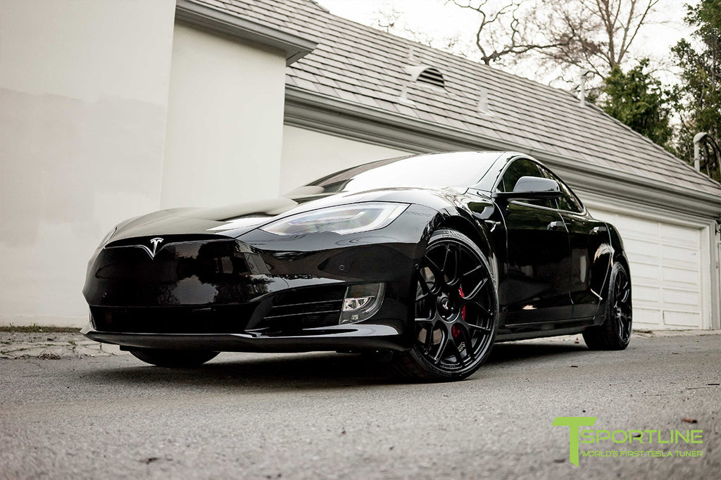Tesla Model S and X Chrome Delete Satin Black