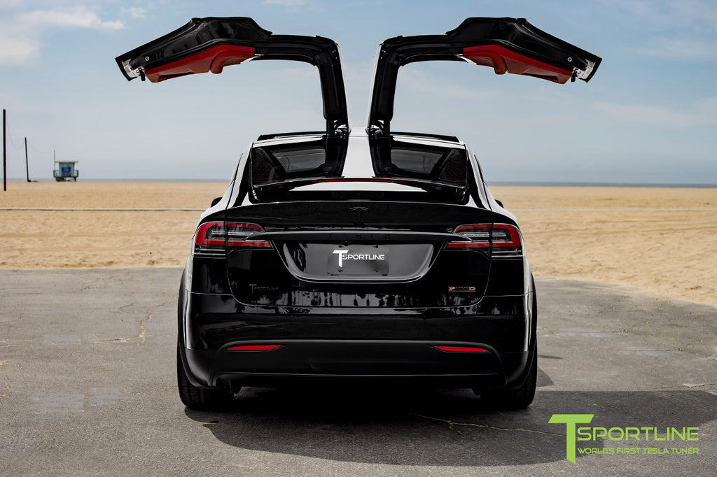 Tesla Model X with Black Chrome Delete and 22 inch MX117 Forged Wheels