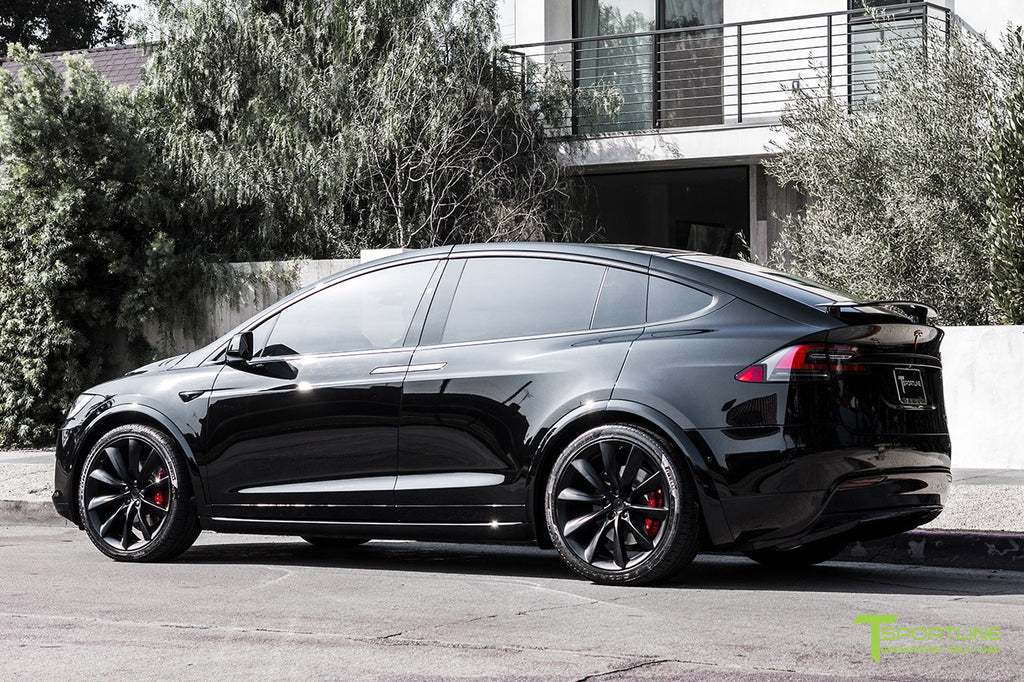 Black Tesla Model X P100D Painted Plastic Panels
