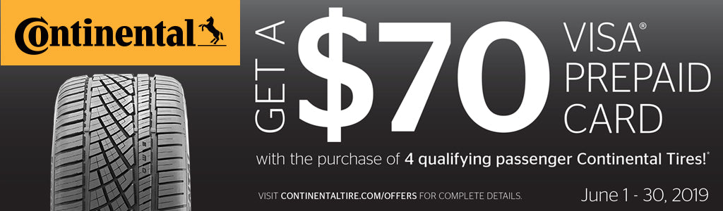 Continental Tires Mail-In Rebate Form