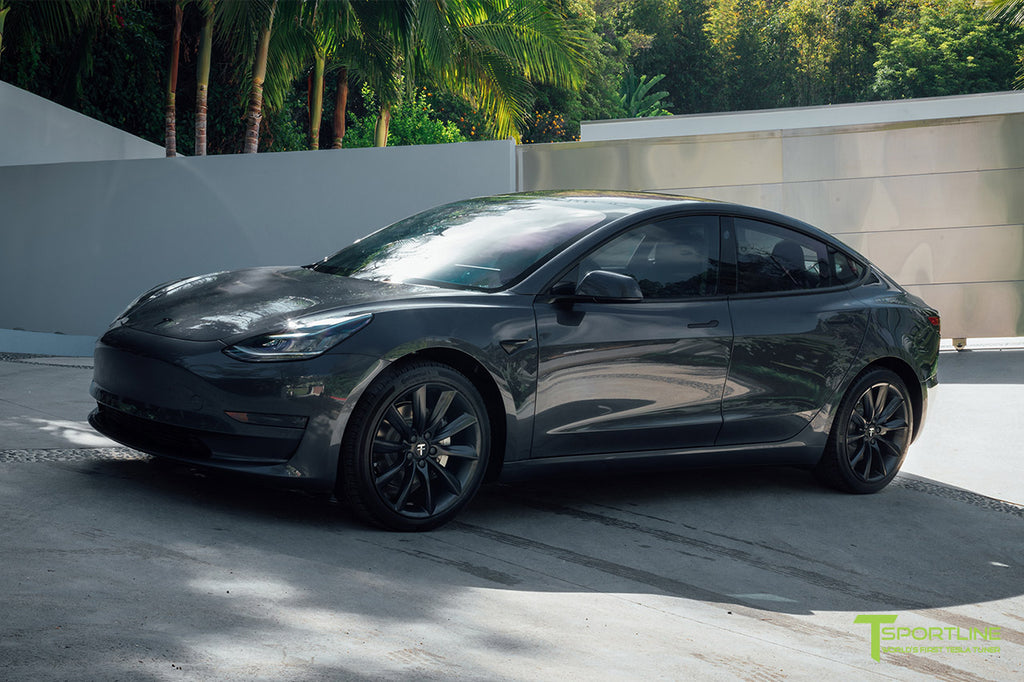Midnight Silver Metallic Model 3 with 3M Satin Black Chrome Delete
