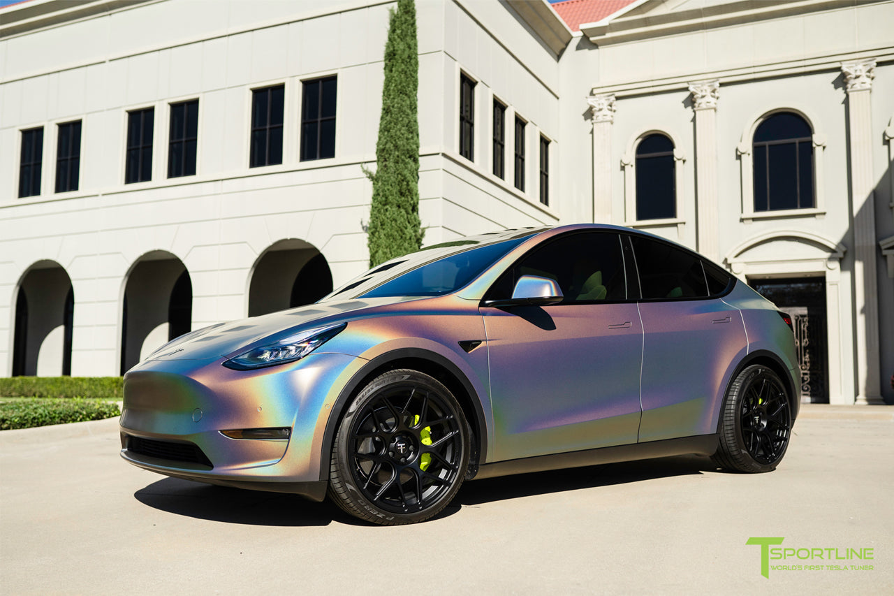 Tesla Model Y Performance - Satin Flip Psychedelic