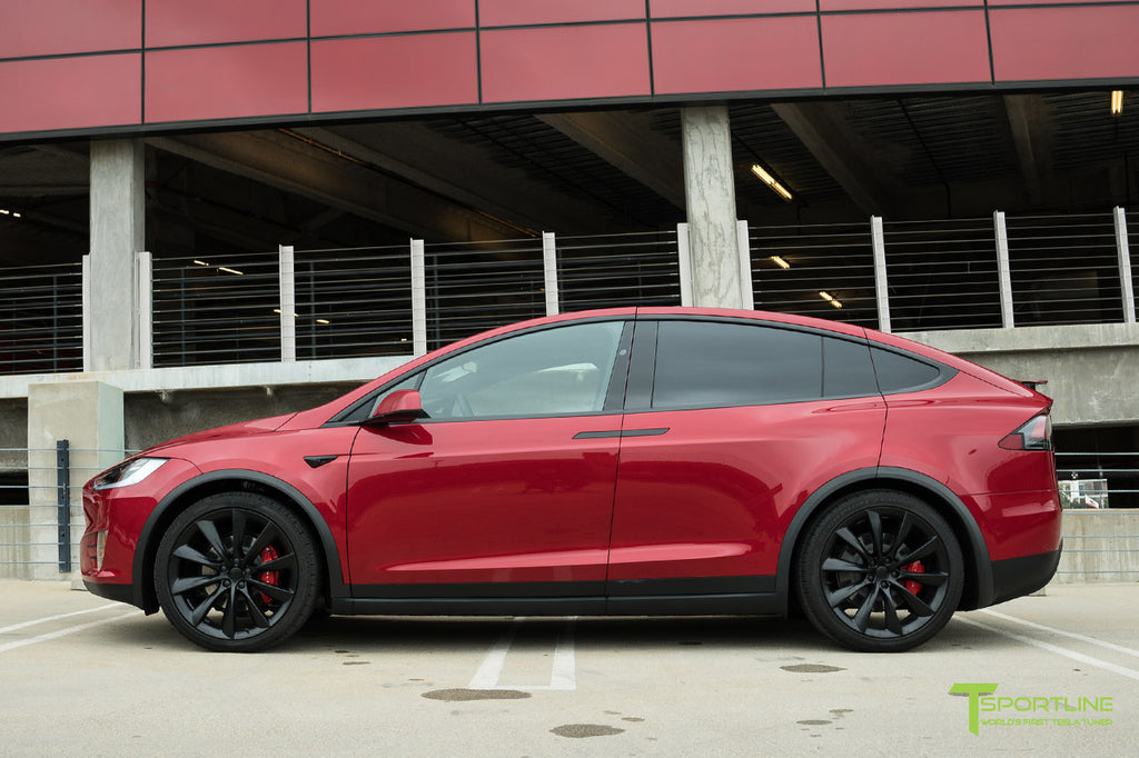 Red Multi-Coat Model X with 3M Satin Black Chrome Delete: