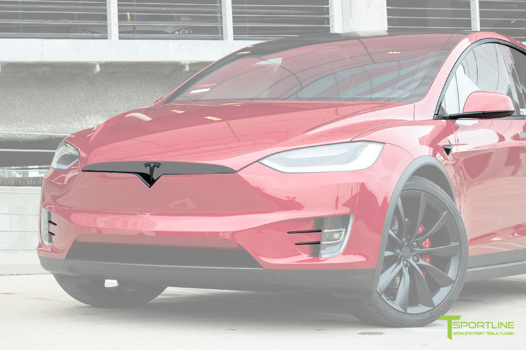 Red Multi-Coat Tesla Model X with Chrome Delete