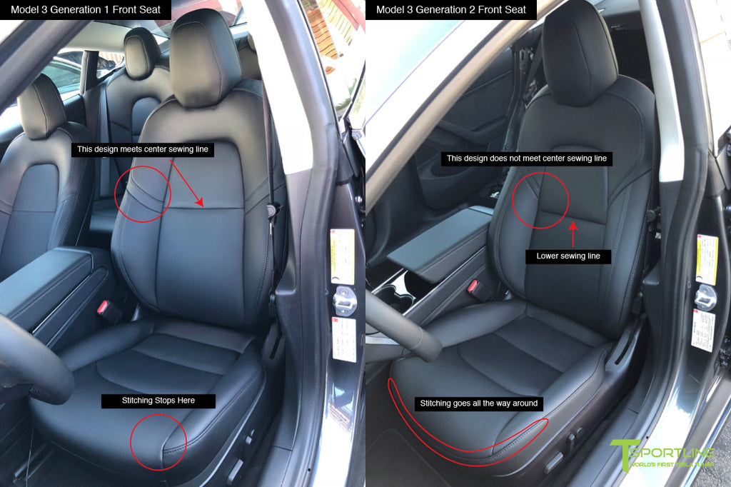 Tesla Model 3 Seat Generation Changes and Updates