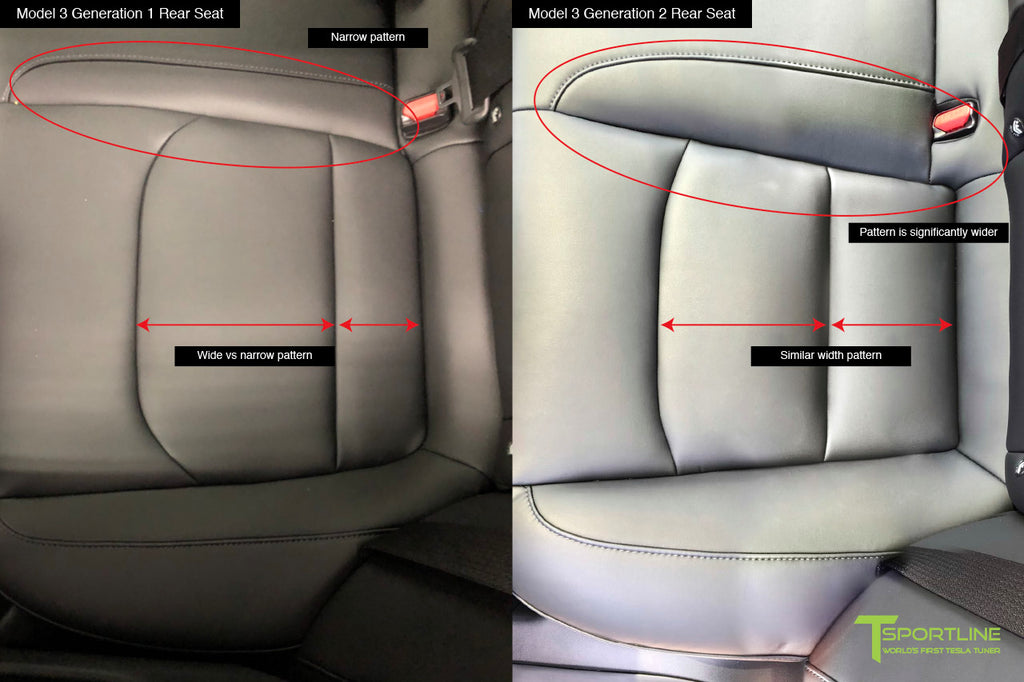 Tesla Model 3 Black Interior Seat Update