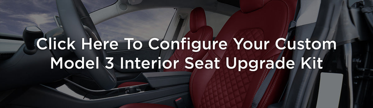 Tesla Model 3 Custom Design Upholstery Interior Seat Upgrade Kit