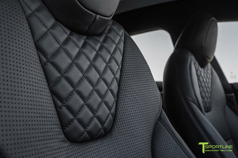 Black Model S with Diamond Quilted Seats in Ferrari Black