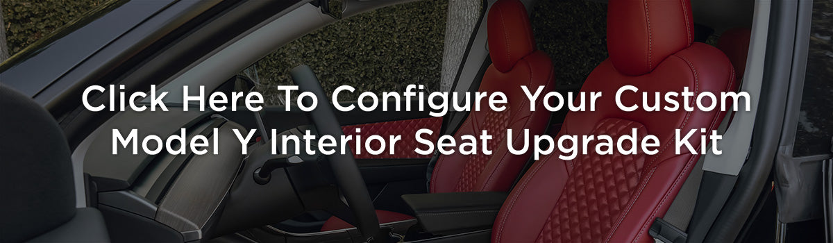 Tesla Model Y Custom Design Upholstery Interior Seat Upgrade Kit