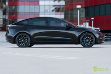Black Tesla Model 3 with Matte Black 19 inch TST Tesla Wheel by T Sportline