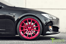 "Custom Tesla Model S with TS112 21"" Forged Wheels and Chrome Delete in Satin Black"