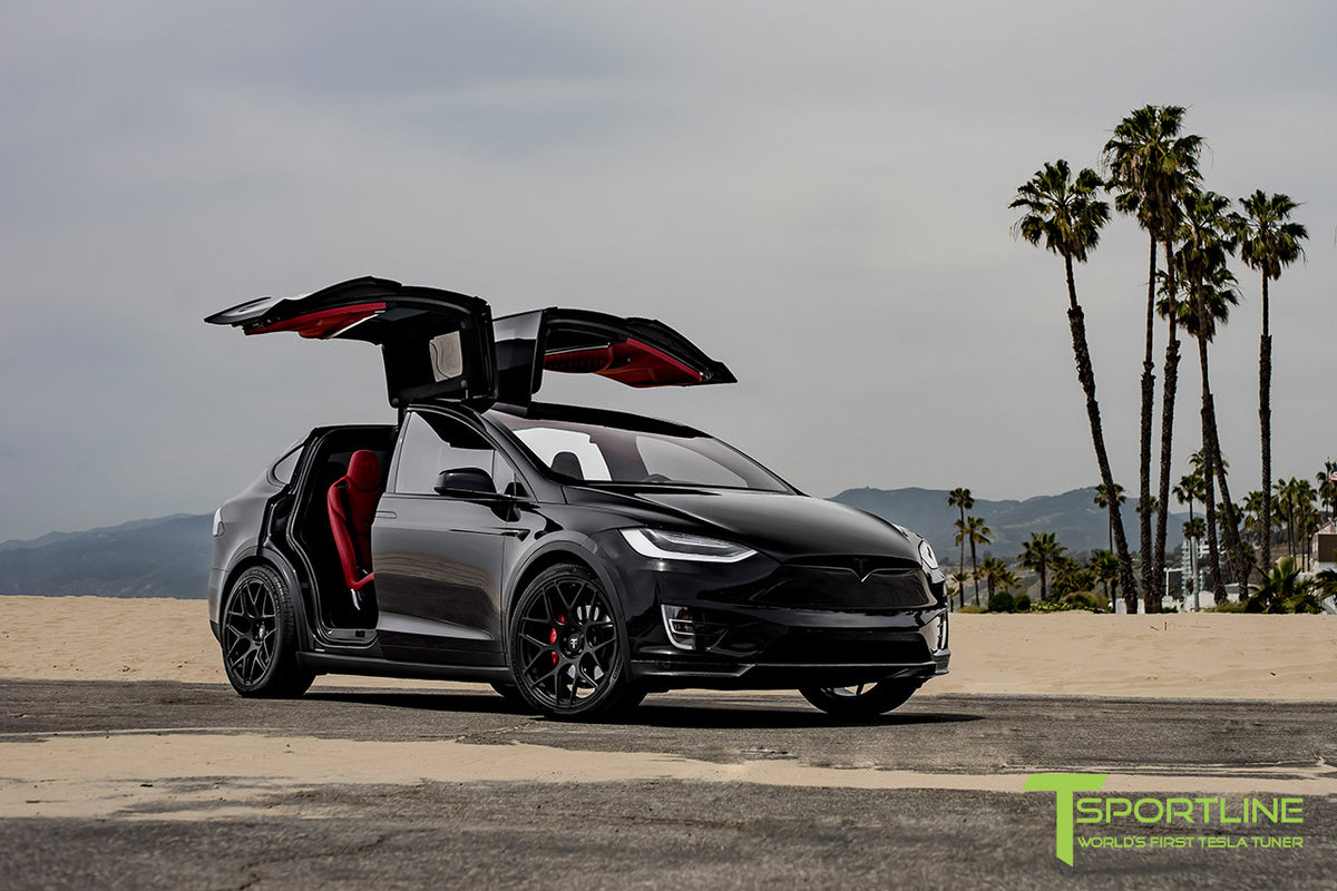 "Tesla Model X 22"" MX117 Forged Tesla Wheel and Tire Package (Set of 4)"