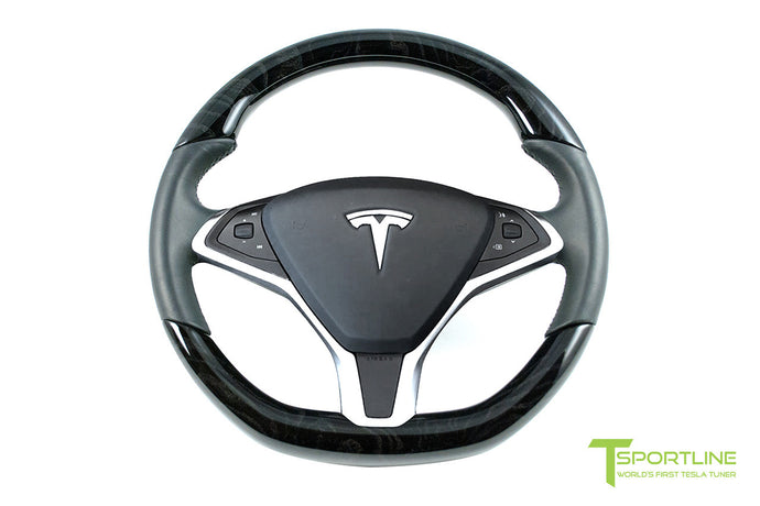 Tesla Dark Ash Wood Steering Wheel