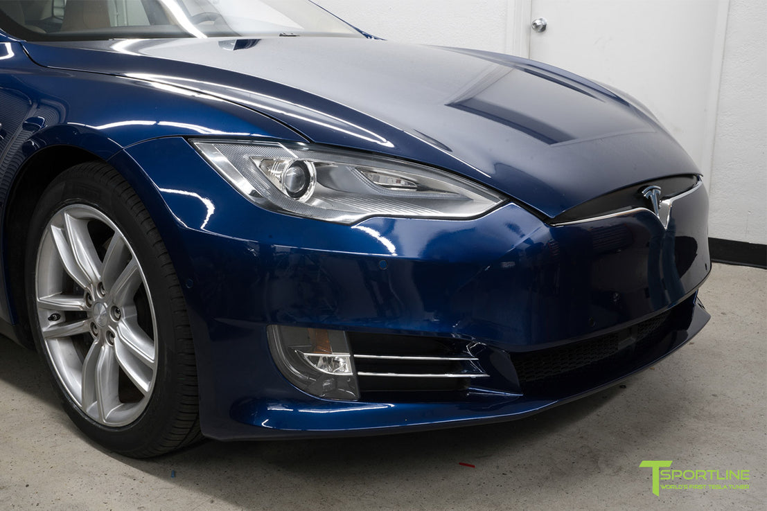 2012 2016 Tesla Model S Front Bumper Facelift Refresh Tsportline
