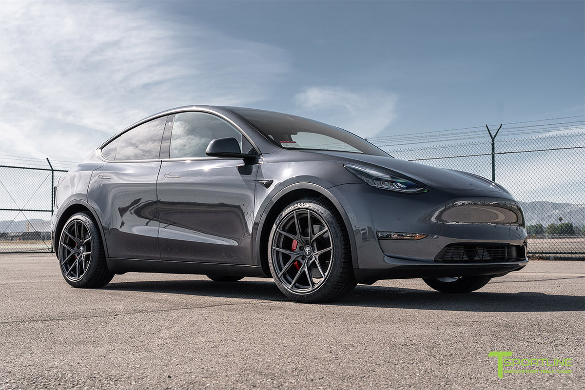 "Tesla Model Y 20"" Falcon Y Limited Edition Flow Forged Tesla Wheel and Tire Package (Set of 4)"