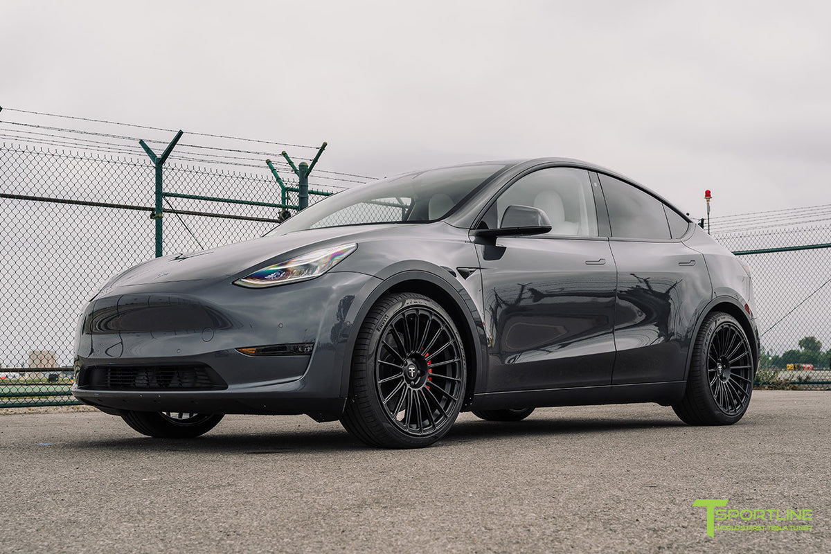 "Tesla Model Y 21"" TY118 Forged Tesla Wheel and Tire Package (Set of 4)"