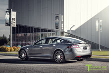 "Custom Tesla Model S with TS114 21"" Forged Wheels"