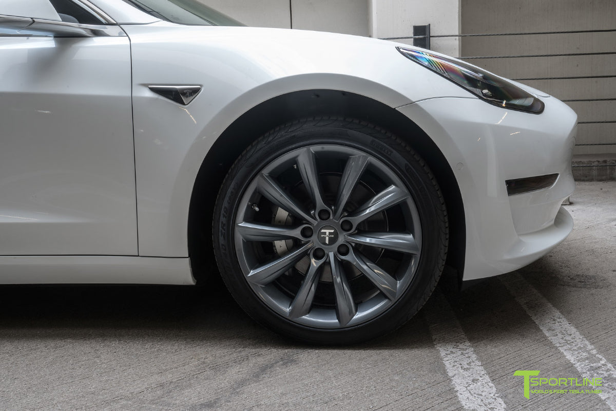 "Tesla Model 3 19"" TST Flow Forged Tesla Wheel and Tire Package (Set of 4)"