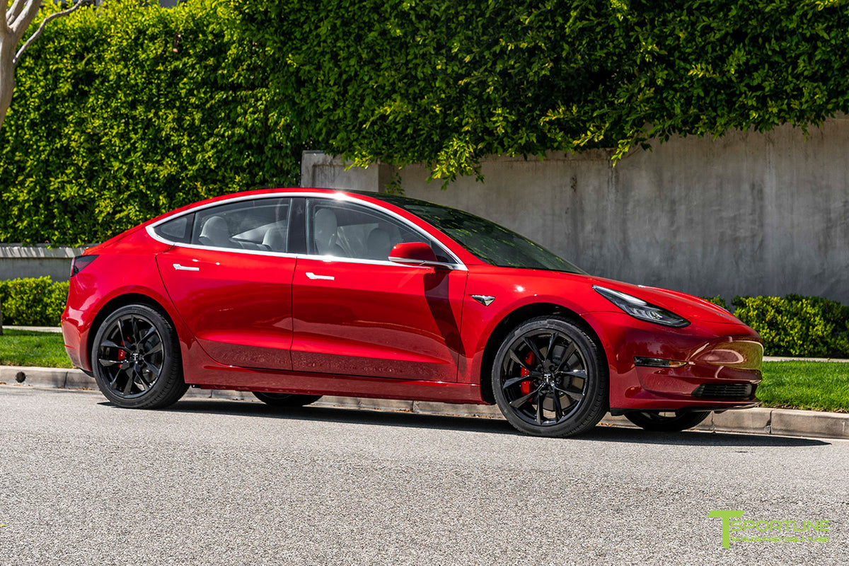 "Tesla Model 3 19"" TSS Flow Forged Tesla Replacement Wheel and Tire"